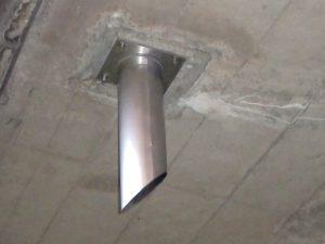 天板プレート一体型排水管TS-PL_PIPE設置例