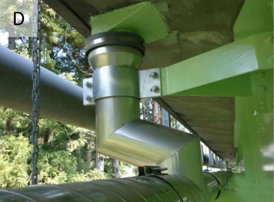 橋梁排水管 桝接続 補修