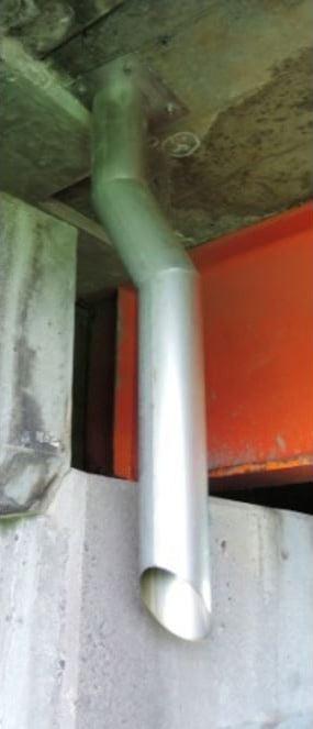 橋梁用排水補修 設置例