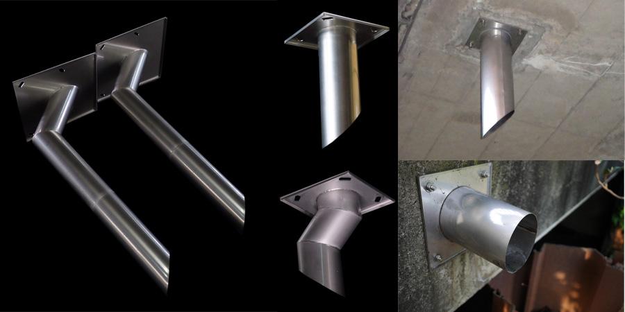橋梁排水管補修 天板プレート 画像