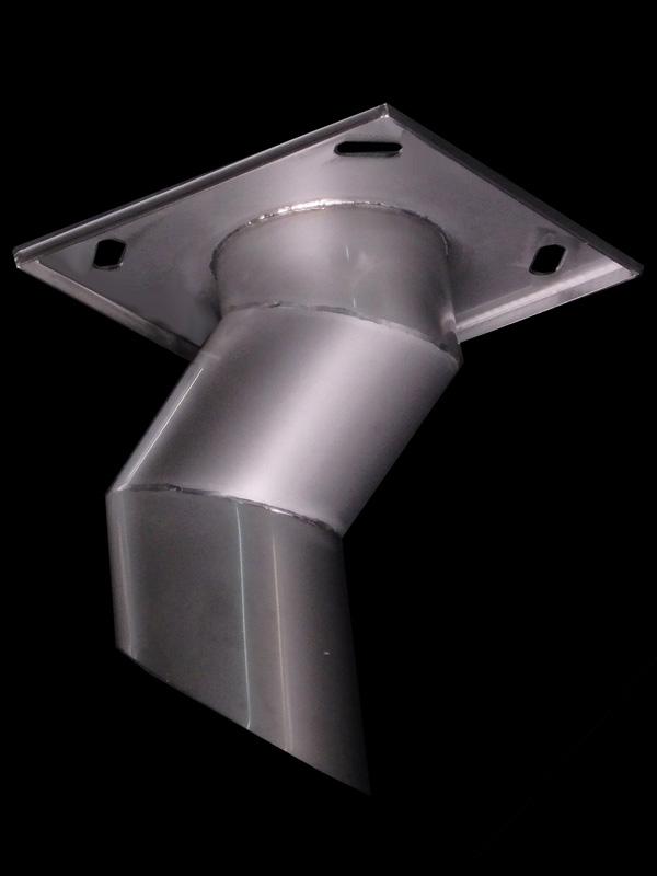 橋梁用補修排水管 天板プレート 曲げ加工