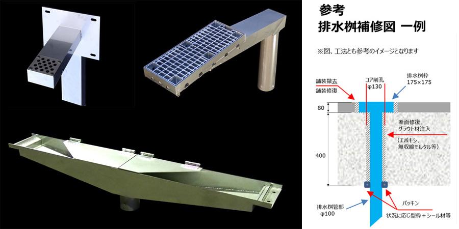 橋梁排水桝 製作例 画像