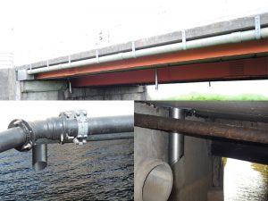 天板プレート一体型排水管設置例