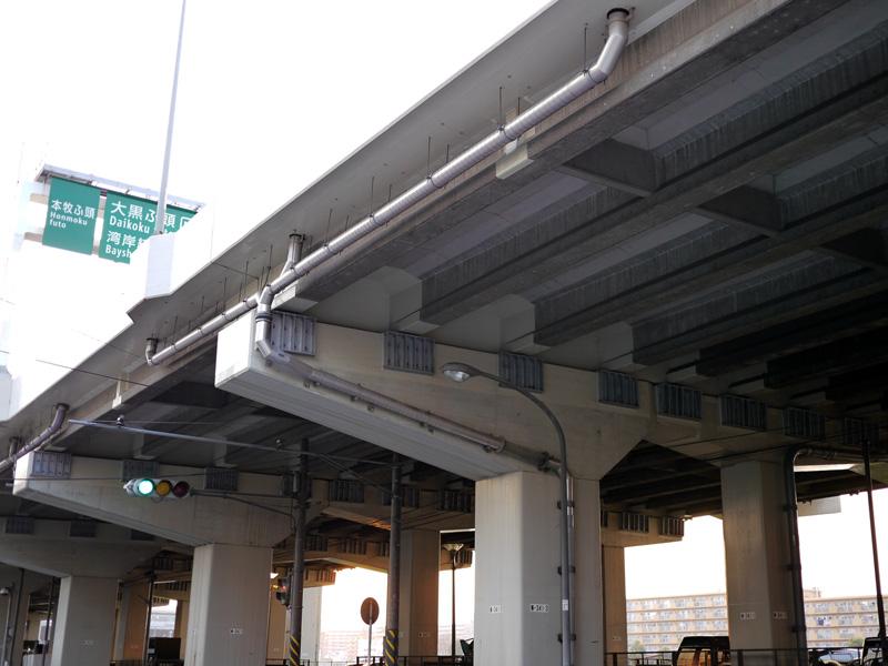 橋梁排水補修 横引き 施工例
