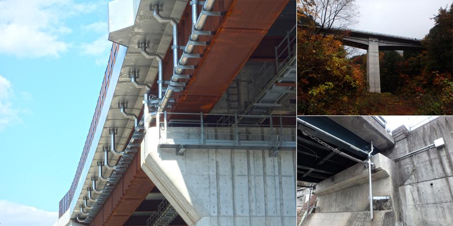 橋梁用排水装置 施工例