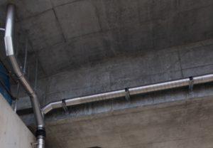 橋梁用高気密ステンレス排水管例