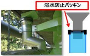 TSステンレス排水装置の異種金属接触対策例