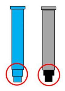床版排水材のフレキシブルチューブ接続部イメージ