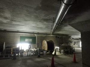 排水管を地下へ設置例
