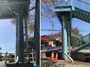 歩道橋排水管