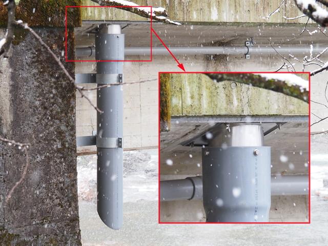 天板プレート一体型排水管