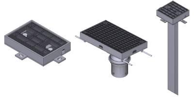 橋梁用排水装置 排水桝 CAD